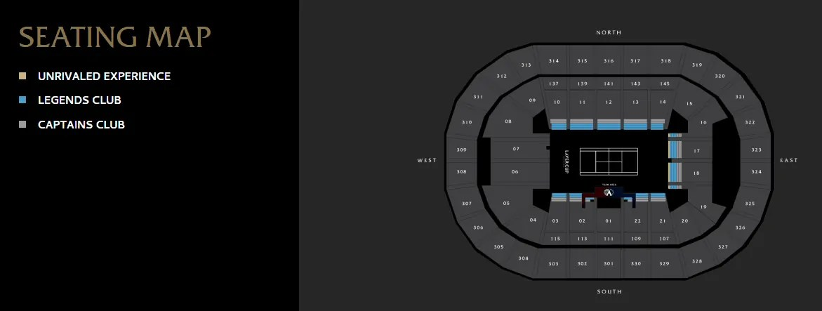 Laver Cup Seating Map