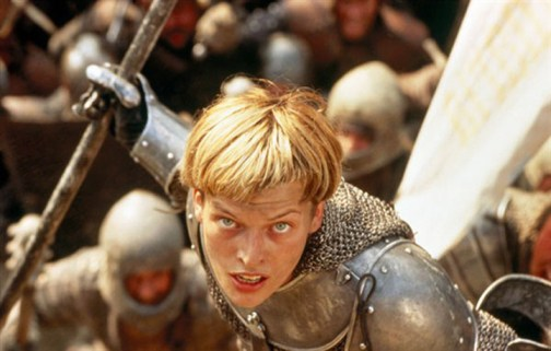 Milla as Joan of Arc in the Messenger (1999)