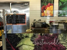 (It's not clear to SCU students that meat is unsustainable because there are signs promoting sustainability at stations where plenty of meat is offered.)