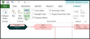 Using a Network Diagram in Microsoft Project