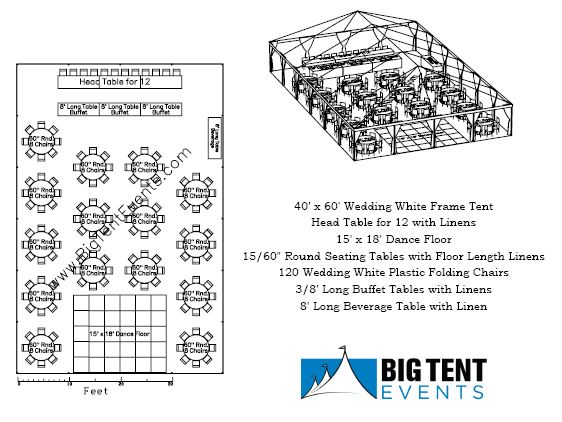 Reception Seating 120 Guest « Big Tent Events
