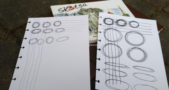Foto: Belajar menggambar dengan berlatih membuat garis lurus dan melingkar