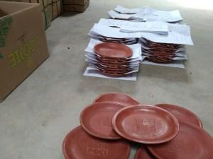 Packing kirim poci keramik klampok Banjarnegara