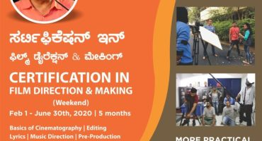 Certification in Film Direction and Making at Tent Cinema Bangalore