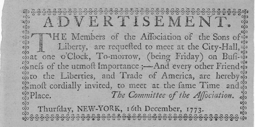 sons of liberty advertisement