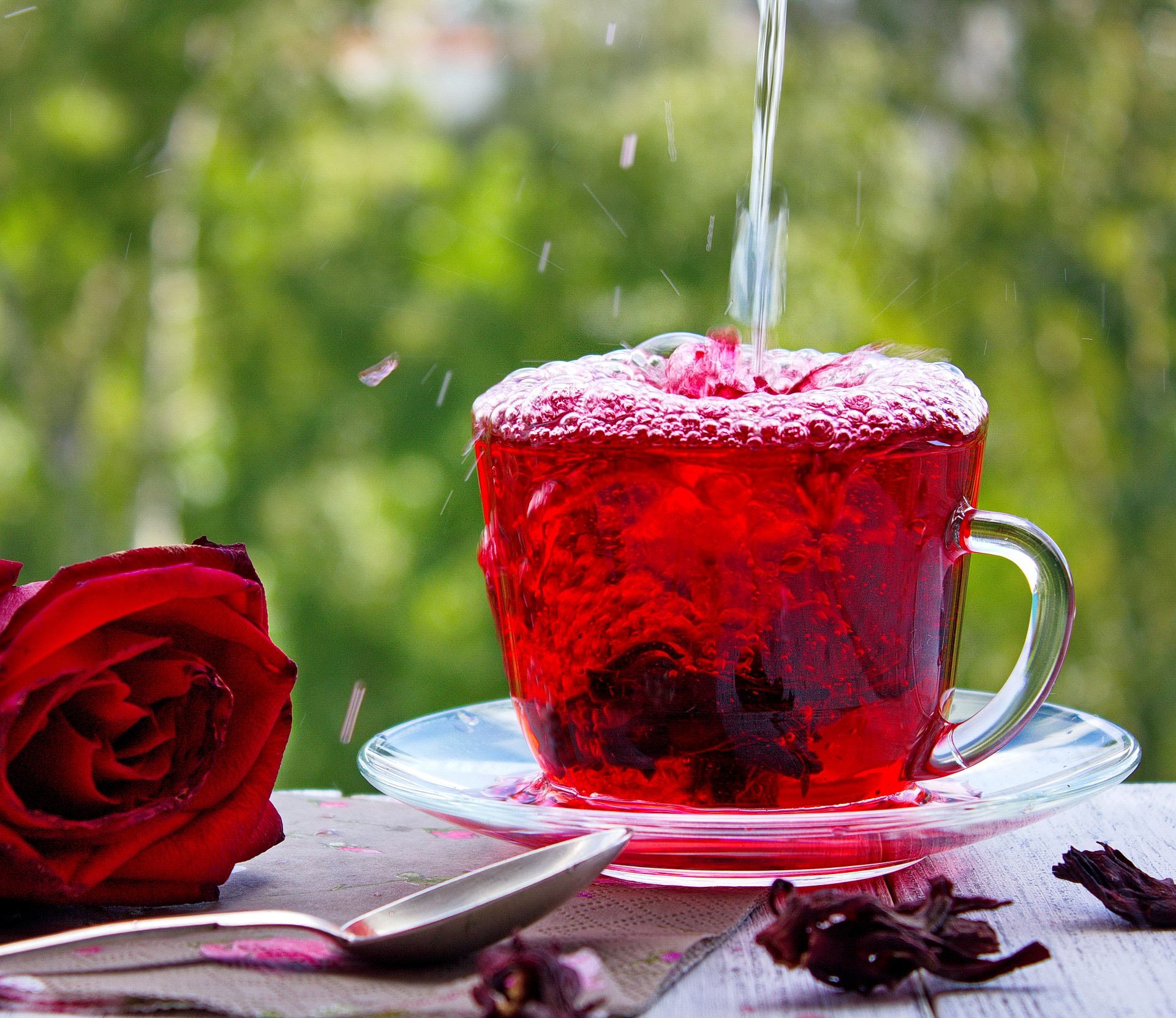 cup of hibiscus iced tea