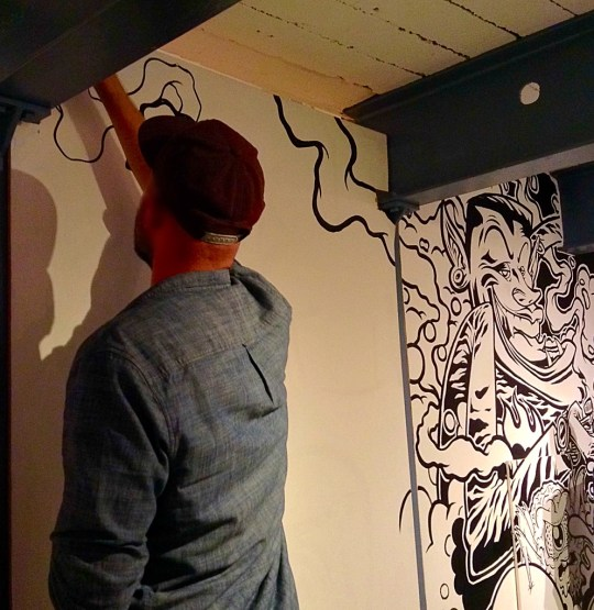Live drawing. Photo by Tania D Campbell