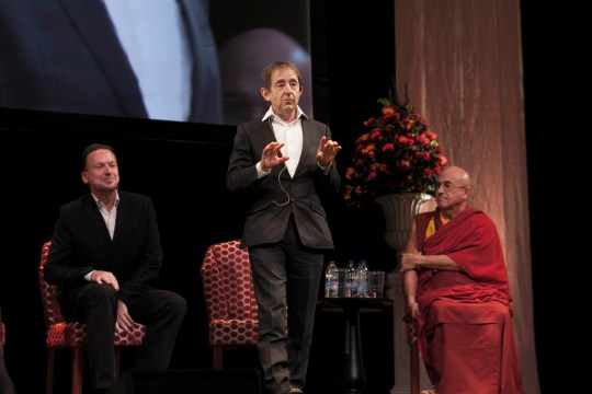 Left to Right: Geoff Mulgan, Sir Anthony Seldon and Matthieu Ricard