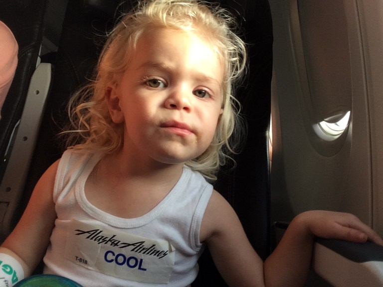 Flying with kids Alaska Airlines