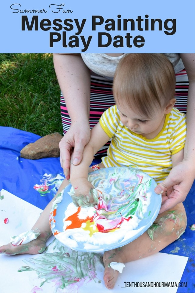 Summer Fun Messy Painting Play Date - Ten Thousand Hour Mama