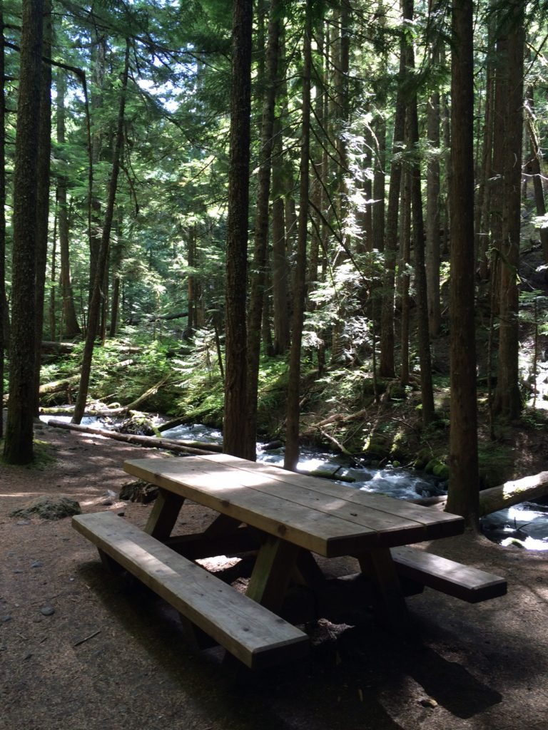 A short hike—and a picnic!—will get you to Mt. Hood, Oregon's Little Zigzag Falls. Gorgeous! Ten Thousand Hour Mama