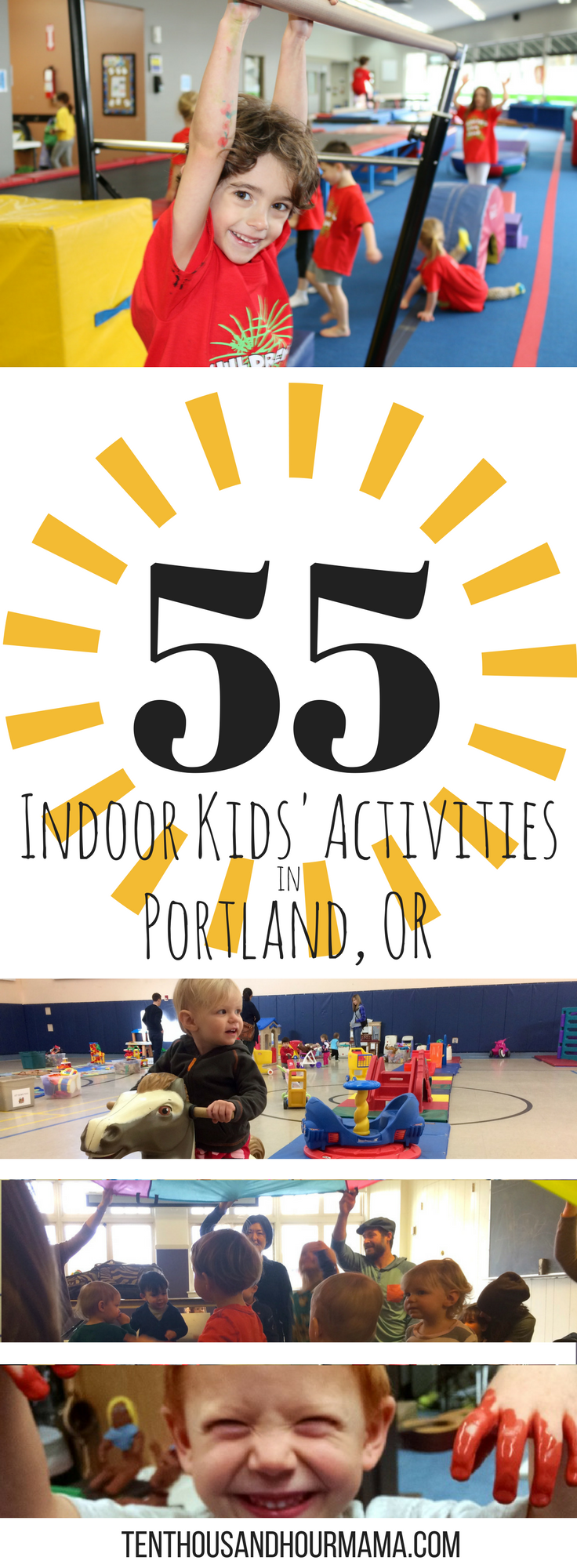 Indoor activities in Portland, Oregon for kids and families - tons of fun! Ten Thousand Hour Mama