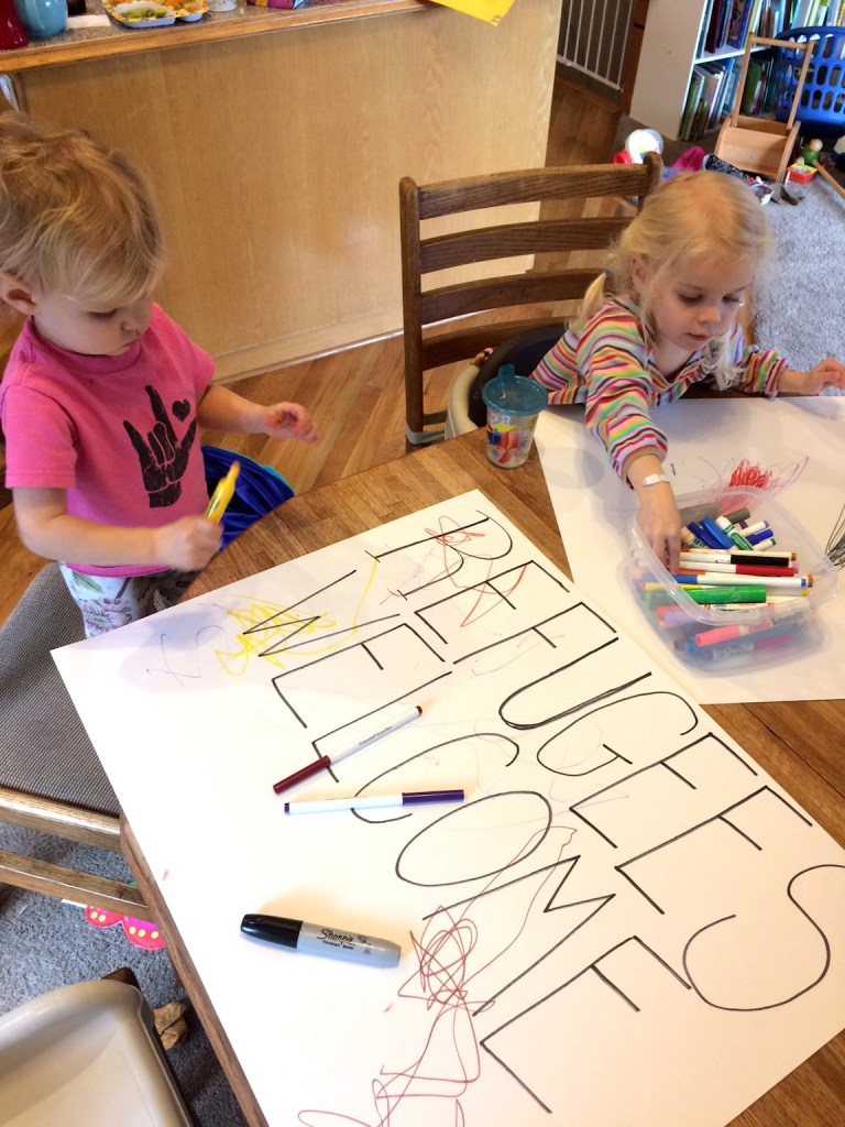 Family activism // make protest signs with kids // resist - Ten Thousand Hour Mama