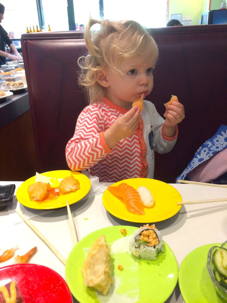 Go to sushi with your kids, even if they're picky eaters. Family travel! Ten Thousand Hour Mama