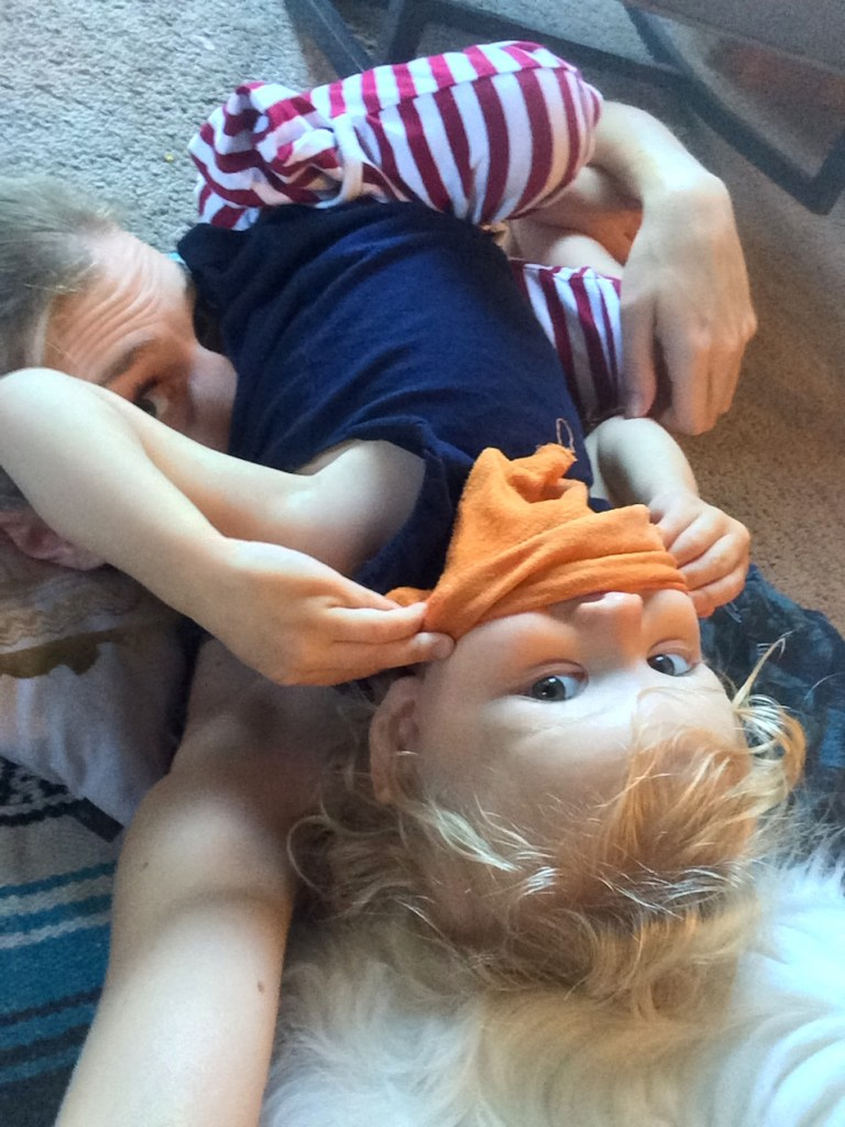 Oh my gosh, the toddler clingy phase is taken to the next level: She wants to smash her face into mine! Ten Thousand Hour Mama