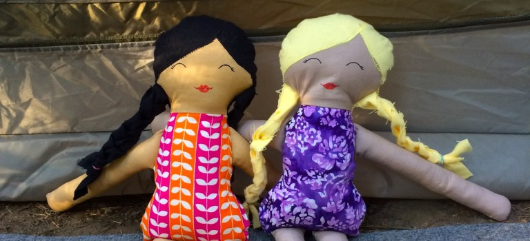 Handmade camping dolls make for an unforgettable summer
