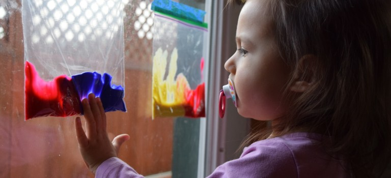 Mixing colors: Ideas for homeschool preschool activities