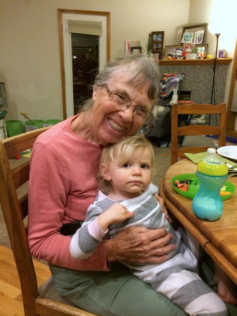 Meeting her great grandma - Ten Thousand Hour Mama