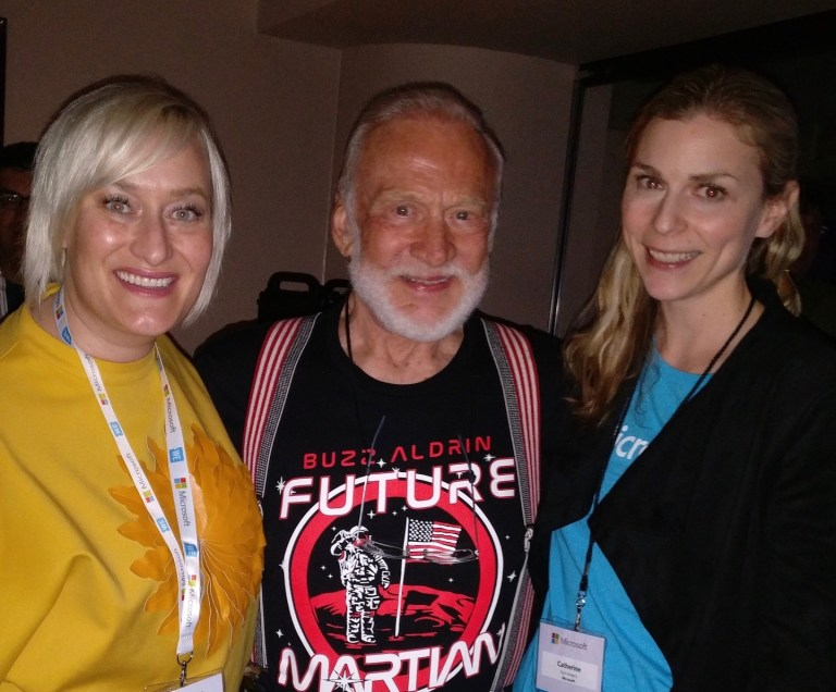 Meeting astronaut Buzz Aldrin