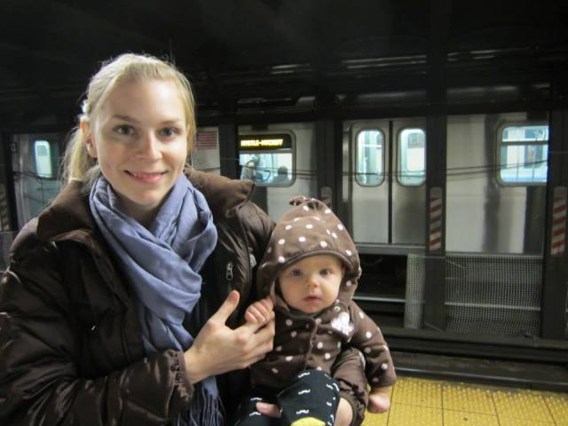 Edie was less than thrilled about the subway.