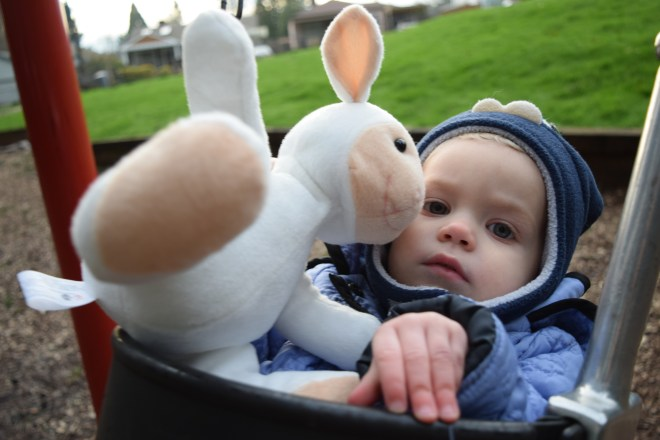 Sheep lovey toddler swing playground