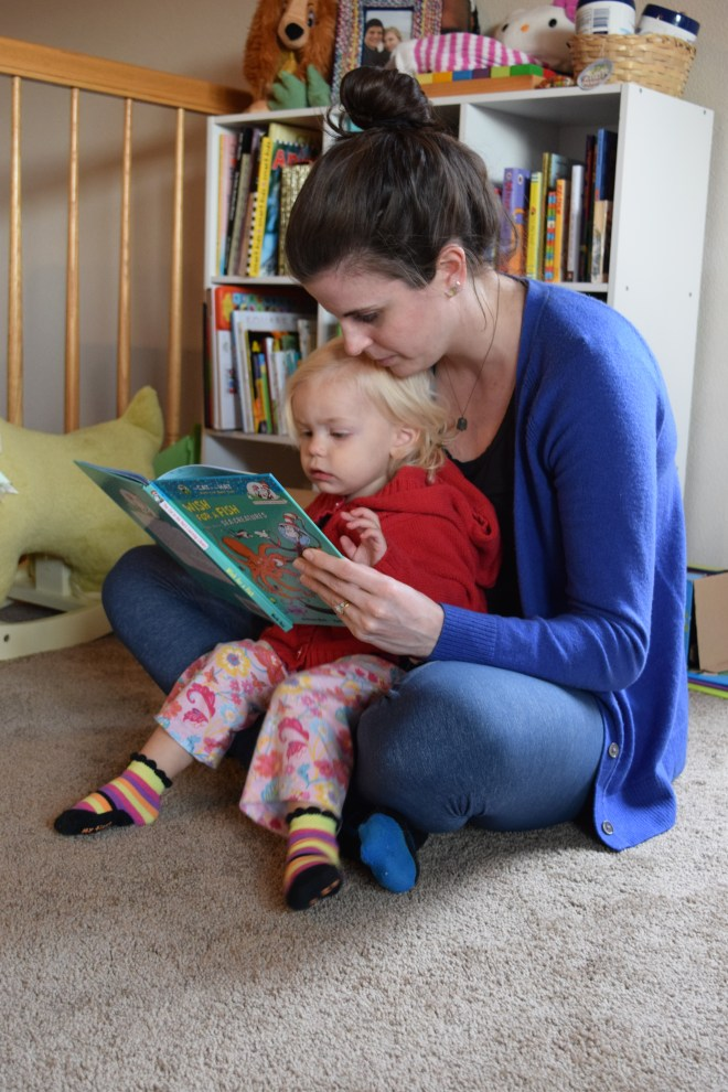 Reading on your lap - Ten Thousand Hour Mama