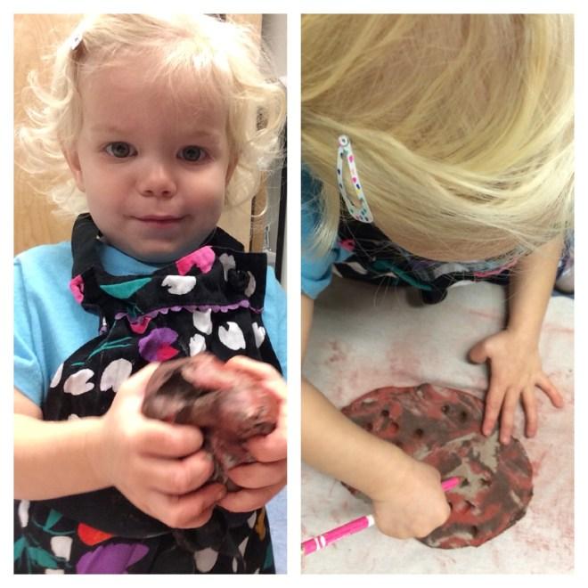 Toddler process art clay