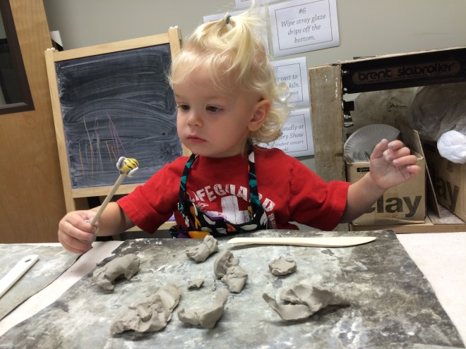Toddler process art clay