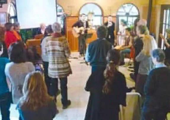 Prayer and worship at the Poriyah Congregation.