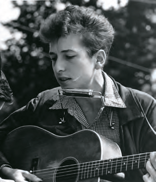 A young Bob Dylan