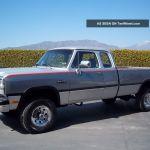 1992 Dodge Ram W 250 8510 Gvwr 5 9l Cummins Diesel 4x4 Le Club Cab Long Bed