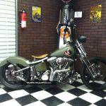 1999 Harley Davidson Springer Military Pinup Hardtail Bobber Chopper Olive