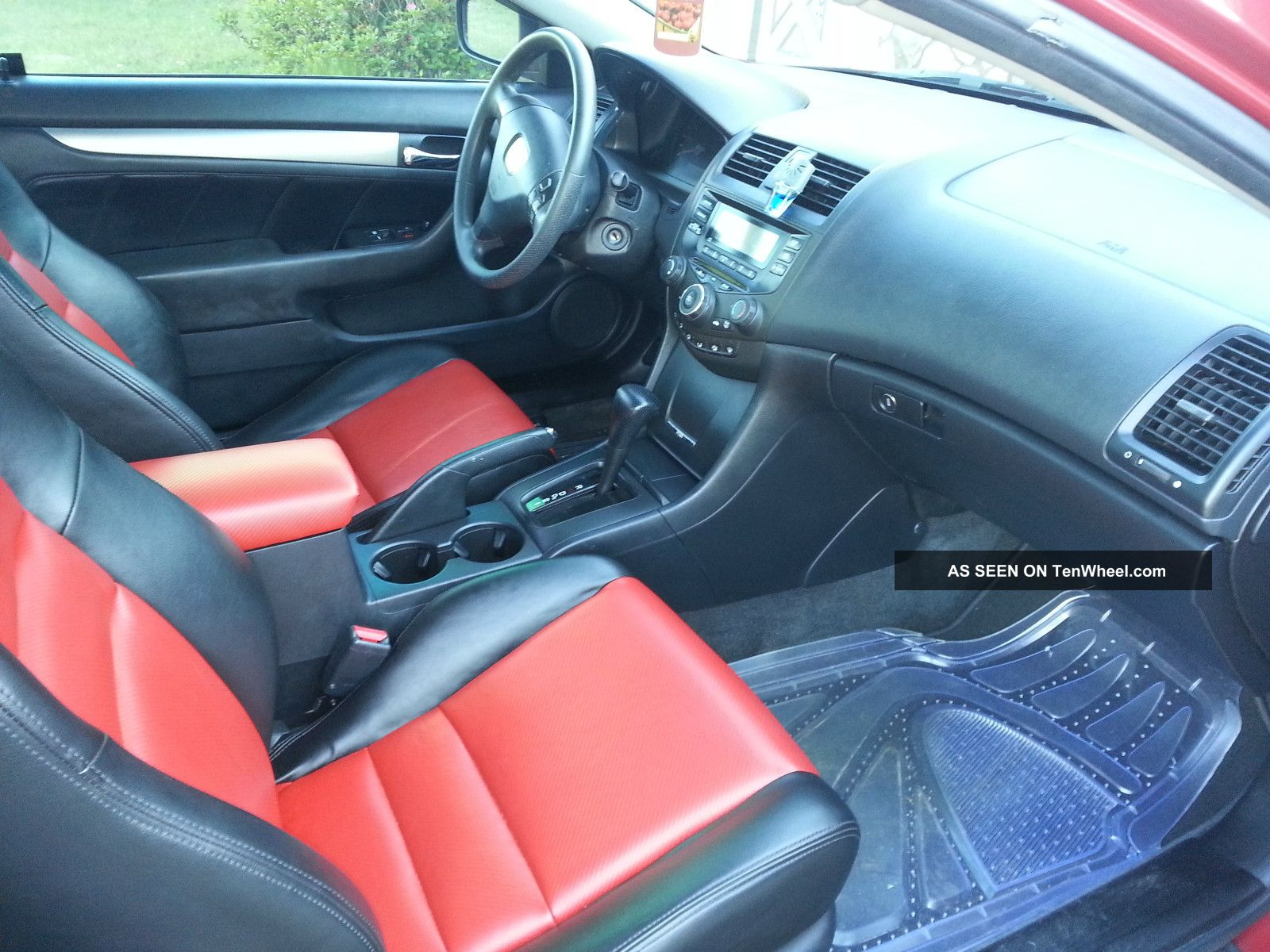 Leather Interior Accord Red Honda 2013