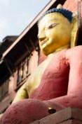 buddha statue butter lamp