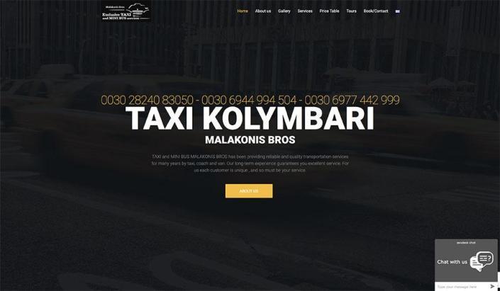 Web Design | Taxi Kolymbari - Malakonis Bros