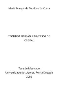 Teolinda Gersão: Universos de Cristal