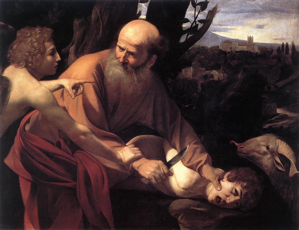 Caravaggio, Sacrifice of Isaac, 1603, oil on canvas, 104 x 135 cm, Uffizi Gallery, Florence, Italy