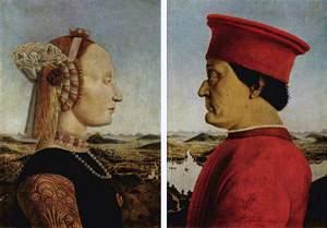 Piero della Francesca: 'Díptico dos Duques de Urbino' (Battista Sforza e Federico II da Montefeltro), 1472