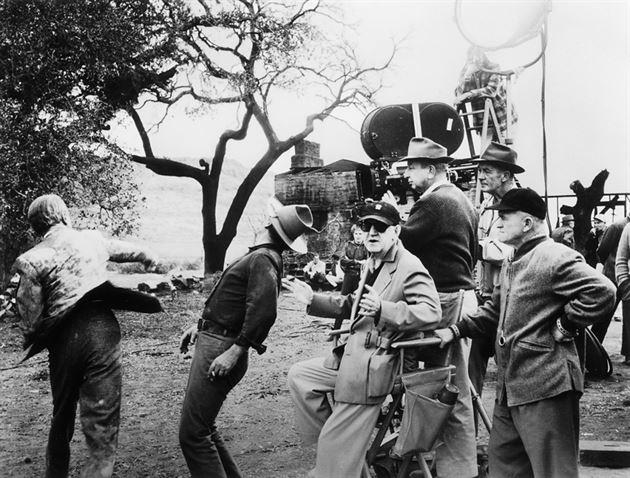 John Ford sul set di Liberty Valace