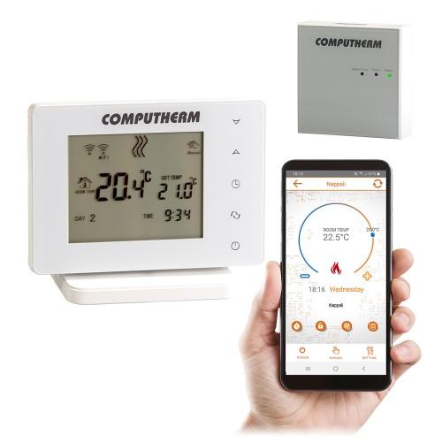 Беспроводной сенсорный Wi-Fi терморегулятор COMPUTHERM E400RF