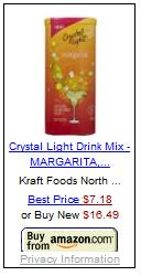 crystal light, margarita, mix, tequila, tequila aficionado, sugar free, diet