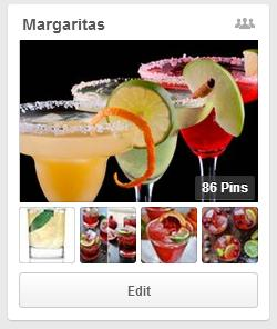 Margaritas board, Cinco de Mayo
