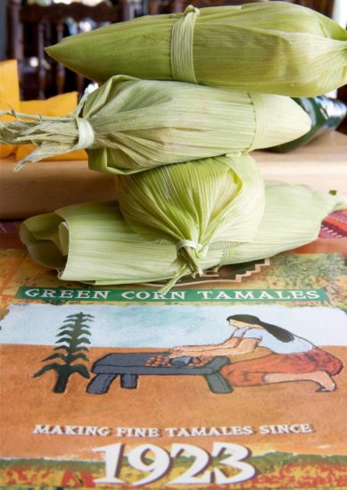 green corn tamales, el cholo