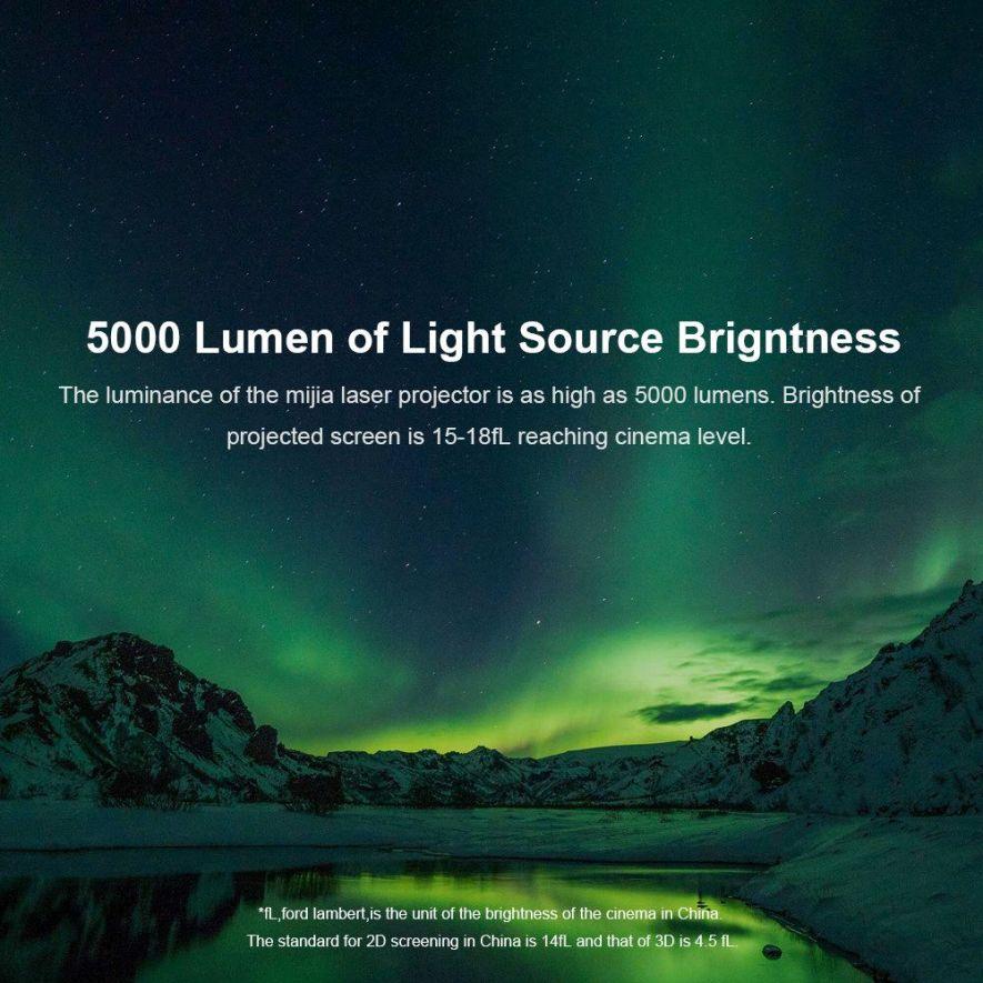 Proyector Láser 4K Xiaomi Mi Mijia 5000 Lumens 150 Pulgadas