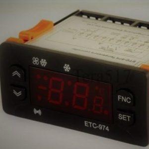 Микропроцессор два датчика ETC-974