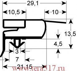 Уплотнитель холодильника ILSA АН 070008 1539х659 мм