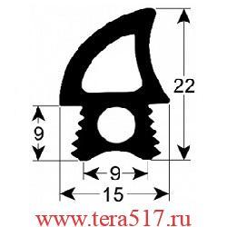 Уплотнитель дверной 2400 мм TECNOEKA (01000780)
