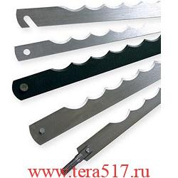 Нож рамный 260 мм штифт 3х6 (CV, 12 мм, 0.5 мм) для хлеборезки Gaspari