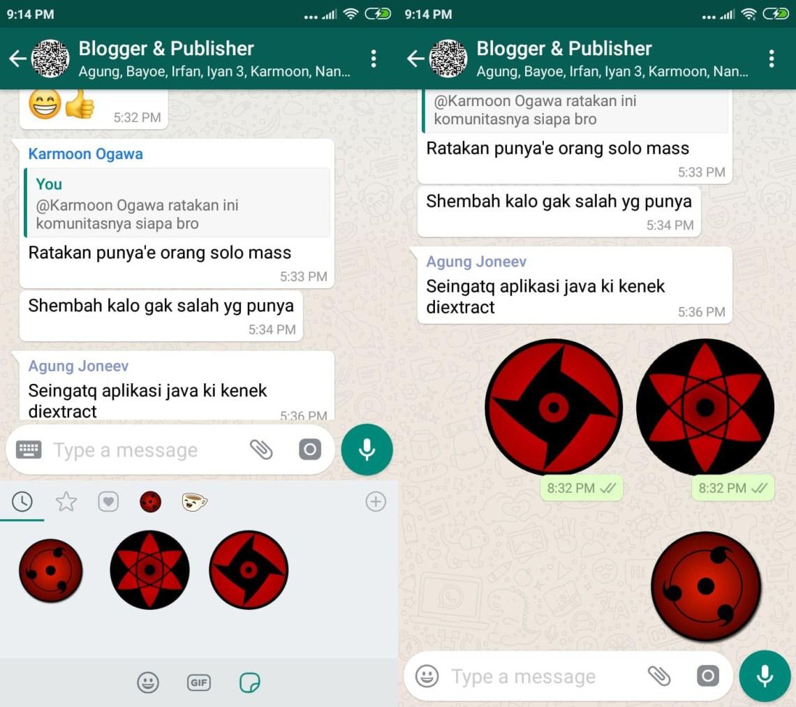 Cara mengirim sticker WhatsApp