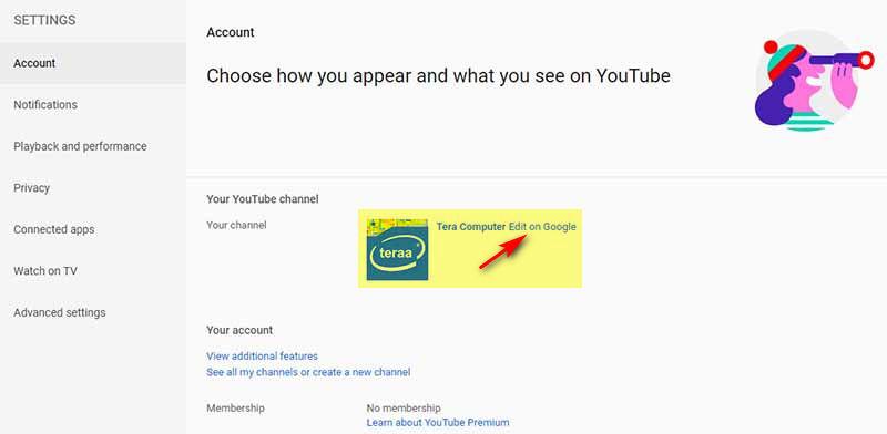 Cara merubah nama channel YouTube